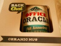 *** NEW IN BOX *** THE OFFICE ORACLE ALL KNOWING ALL SEEING CERAMIC MUG