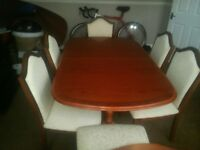 For Sale Extending Mahogany Dining Table And 6 Chairs