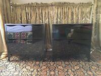 Beautiful Black Bedside Cupboards