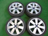 "FORD FOCUS, FIESTA ZETEC ST 17"" inch ALLOY WHEELS WITH TYRES"
