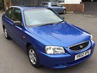 **2002 Hyundai Accent 1.3 Se For Sale**Starts&Drives!**Mot Out Last Week**L@@K**Bargain £130**L@@K