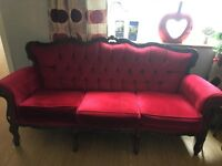 Vicotrian style sofa & 2 chairs