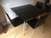 Modern style dining table and 4 chaira