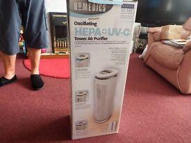 Homedics Oscilating Hepa UV-C towere Air Purifier