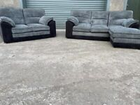 Grey Harvey's corner sofa & 2 seater sofas, couches, furniture 🚛🚚🚛