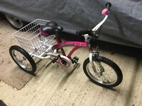 """Pedal Pals Supa trike 16"""" Girls tricycle"""