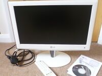 "Television by LG - LCD 19"" white glossy tv"