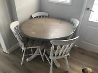 Pine Dinning Table and 4 x Chairs