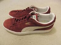 Womens Burgundy Puma Classic Size 6