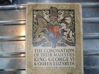 King George VI Historic Official Souvenier Program.
