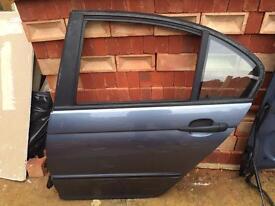 BMW BACK LEFT PASSENGERS DOOR IN BLUE