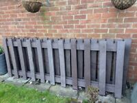 Heavy duty solid plastic panels, ideal for low fence