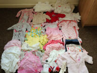 Baby Girls Bundle Newborn -3months includes sleeping bags moses basket bedding will post out