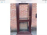 Used upvc wood grain double glazed door