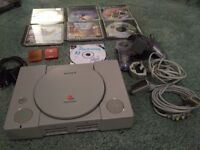 Reduced - Sony Playstation 1 + accessories and games (S25 Dinnington)
