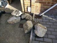 Garden Rockery Rocks x7