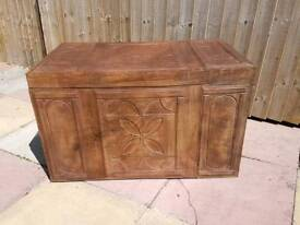 LARGE LEATHER CHEST