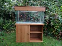 4'x2'x2' Fishtank with pine base/ cupboard