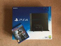 Sony PlayStation 4 - 500 GB Console with Uncharted 4 - Both New & Sealed