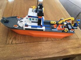Lego city coastguard boat