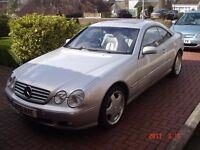 Mercedes CL500 2001 Silver 121000 Miles MOT good condition service history.