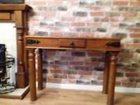 Light oak console table