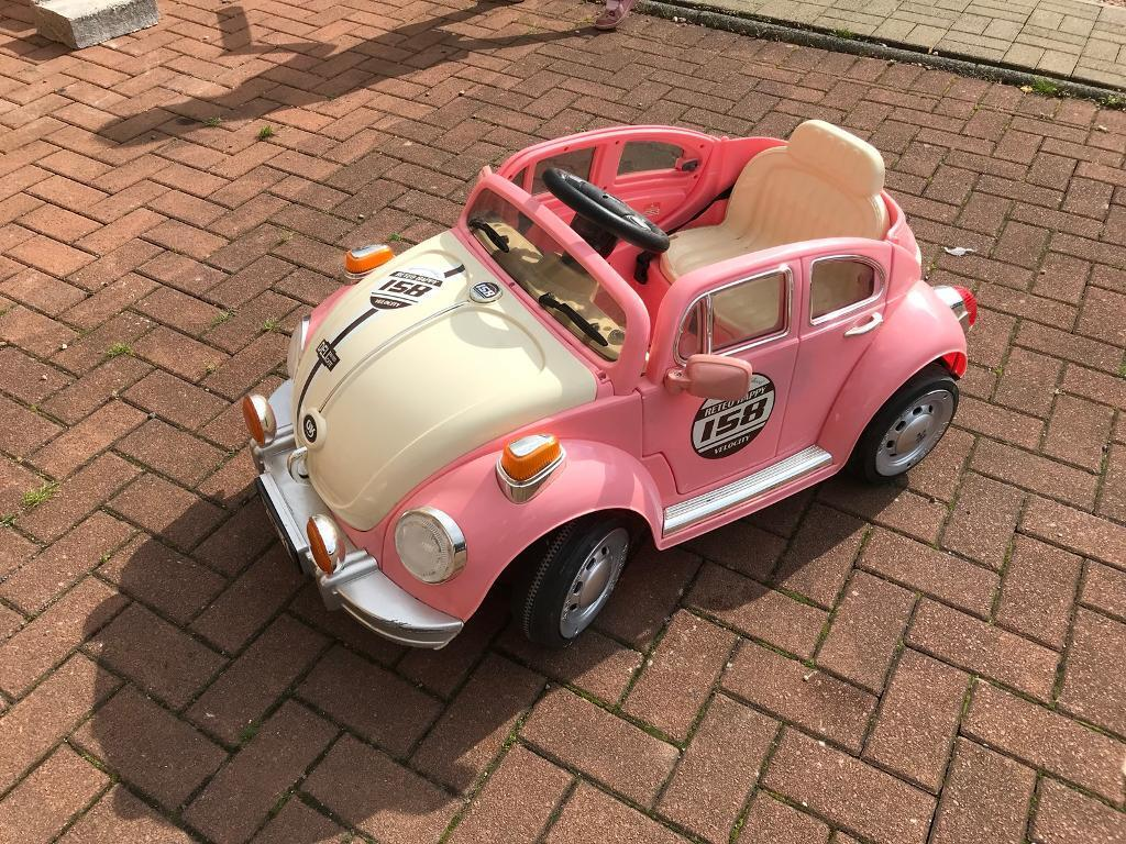 Pink Vw Bug Style Children S Electric Car In