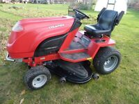 Countax k18/50 Ride on Mower, Kawasaki 18HP Engine, 50 inch Deck,Rear Sweeper Collector With Roller