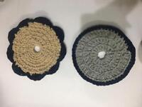Crotchet trivet heat mats