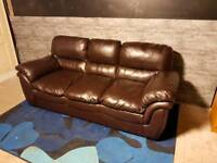 Can deliver brown sofa 3 seater couch settee
