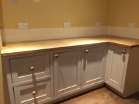 Used Kitchen units, Belfast sink & granite chopping surface