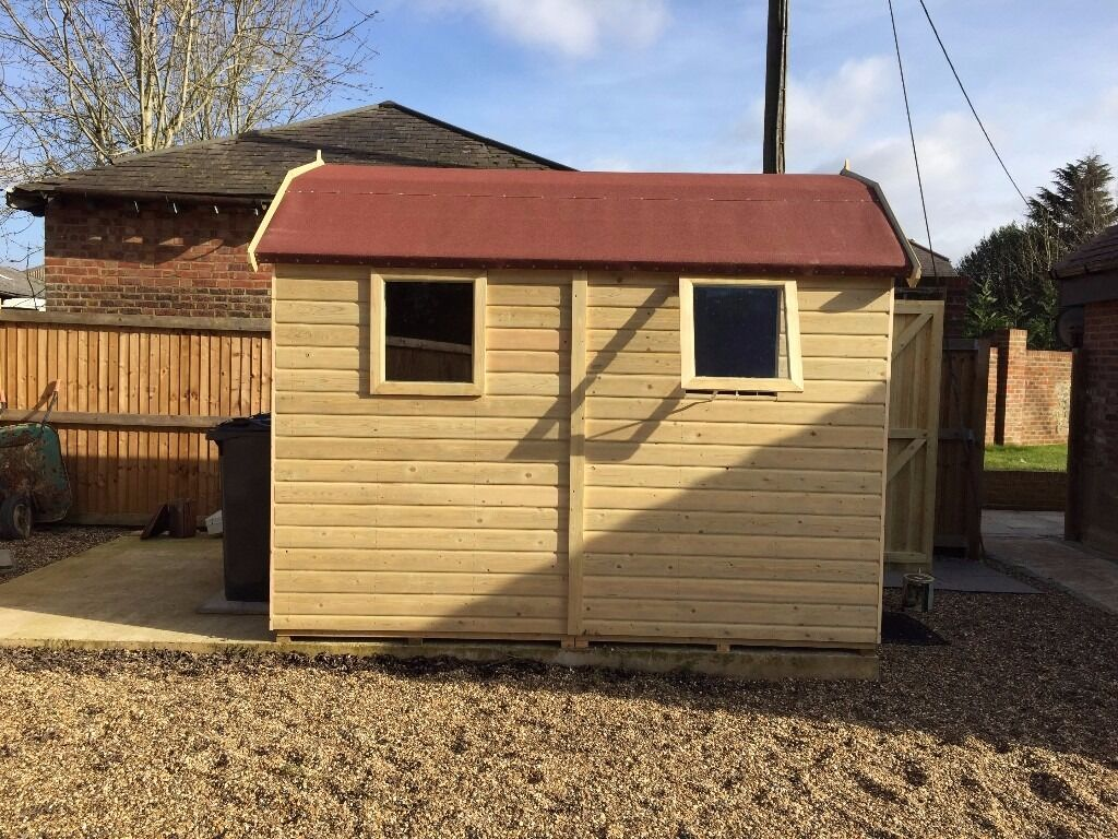 new garden shed superior heavy duty tanalised wood dutch barn size 7ft x 5ft - Garden Sheds 7ft X 5ft
