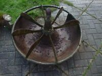 ANTIQUE CAST IRON PIG TROUGH MEXICAN HAT