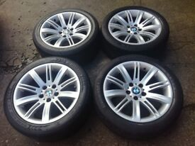 BMW 6 Series 18 Inch Alloy Wheels Set Genuine.