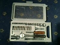 Socket and screwdriver set in carry case (some pieces not from original set)