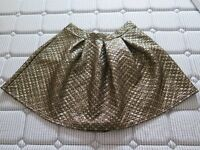 Skater skirt, gold, size 14, New with a tag