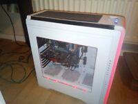 White RGB LED Desktop PC