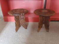 Lovely pair of small folding Campaign Tables circa 1920