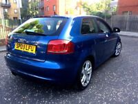 audi a3 1.8 turbo 2009 f.s.h baby blue