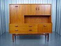 Retro G Plan Tall Sideboard Mid Century Vintage Furniture