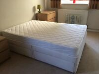 Double divan bed and matress