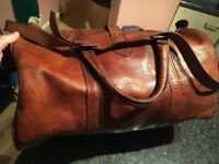 FANTASTIC HANDCRAFT VINTAGE BAG IN LEATHER ONLY £50!!!!! 50X35X25 CM
