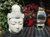 Life size Concrete Buddha Head – Garden Ornament
