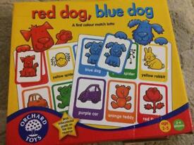 Orchard games colour bingo red dog blue dog