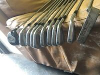 Full set of Tommy Armour irons with putter and 5wood