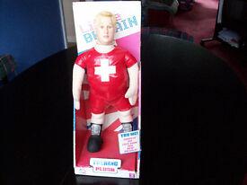 Talking Dafydd Plush Toy from Little Britain still attached to original box