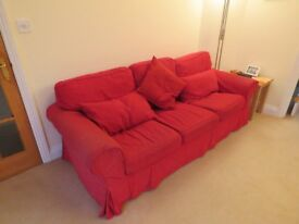 Ikea Sofa, Armchair and Footstool (with storage)