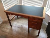 Vintage retro furniture - oak desk