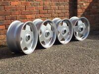 Borbet A deep dish alloy wheels, 4x100, Vw Golf MK 1 2 3, Polo,Caddy BMW e30 etc