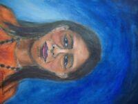 psychic artist offering spirit guide portrait .